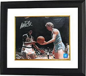 Magic Johnson signed Michigan State Spartans 16X20 Photo vs Bird Custom Framed by Athlon+Sports+Collectibles