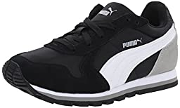 PUMA ST Runner NL JR Sneaker (Little Kid/Big Kid) , Black/White/Drizzle, 3 M US Little Kid