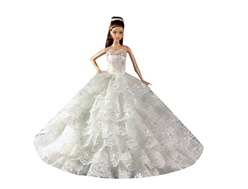 Top 5 best barbie wedding dress for sale 2016 product for Barbie wedding dresses for sale