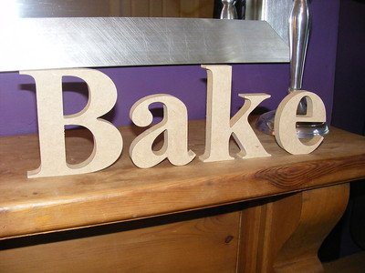 Cute and Curvy Brides Fab Wooden Freestanding Mdf Letters Bake Kitchen Sign Gift - 18mm