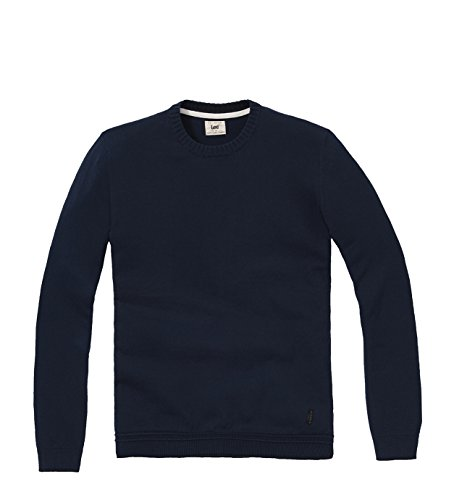Lee - Maglione Crew Knit, Uomo, Azzurro (Navy), XL