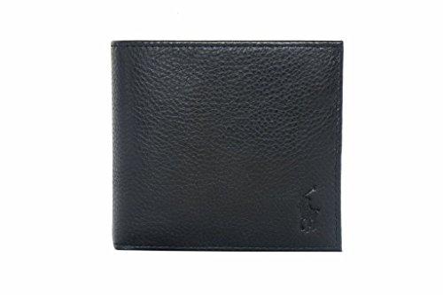 Ralph Lauren da uomo a portafoglio in pelle con portamonete, colore: nero