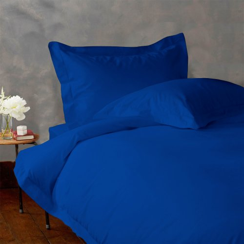 LACASA BEDDING 600 TC Egyptian cotton Fitted sheet Italian Finish Solid ( Twin XL , royal blue ) простыни candide простыня ivory cotton fitted sheet 130г м2 40x80 см