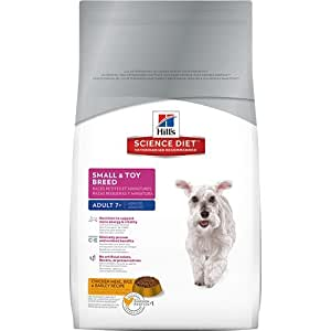 Hill's Science Diet Mature Adult Small and Toy Breed Dry Dog Food, 15.5-Pound Bag