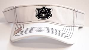 NCAA Licensed Auburn Tigers White Stitches Adjustable Visor Hat Cap by Top of the World
