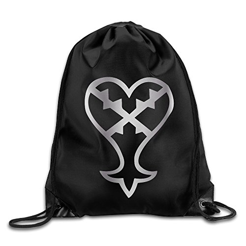 Kingdom Hearts Heartless Platinum Logo Drawstring Backpack Bag (Heartless Wheels compare prices)