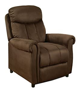 abbyson living palermo dark brown microsuede pushback recliner sedo7