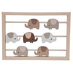 Oatmeal Cookie Elephant Unisex Nursery Wall Art Decor