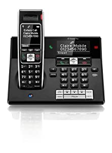 BT Diverse 7460 Plus Single DECT Phone with Answer Machine - Black