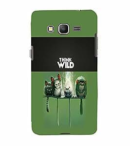 PrintVisa Animal Quotes 3D Hard Polycarbonate Designer Back Case Cover for Samsung Galaxy Grand Prime