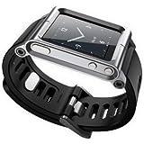 [Bamboo]Apple iPod Nano 6 6nd 6G 6Th Aluminio Metal correa ver BandaMuñeca Equipo Carcasa Funda Smart Case Cover Para Apple iPod Nano 6 6nd 6G 6Th,Plata