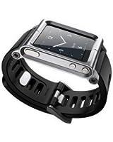 Kepuch Apple iPod Nano 6 6nd 6G 6Th Custodia Alluminio Del Metallo Case Cover Guardare Banda Polso Kit Protezione Per Apple iPod Nano 6 6nd 6G 6Th,Argento