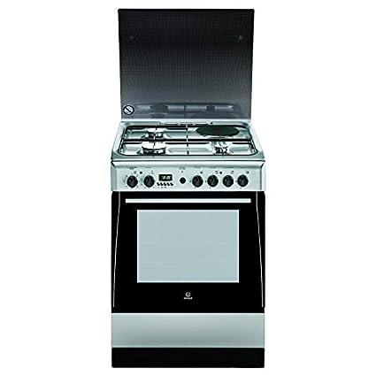Indesit ei6m6c6ae x fr - cuisiniere mixte 59l inox