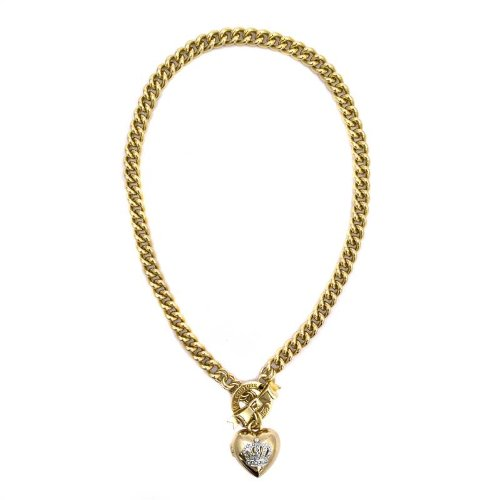 Juicy Couture Juicy Couture Bow Toggle Heart Necklace, Gold