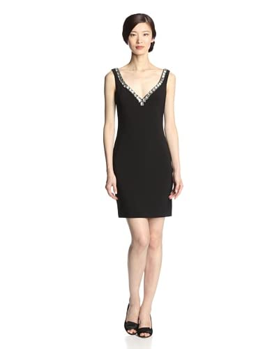 Basix Black Label Women's Crystal Embellished Dress