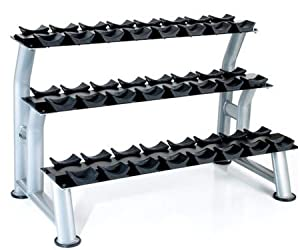 Buy Hampton Fitness 3-Tier Chrome Dumbbell Saddle Rack by Ironcompany.com