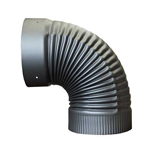 6in. X 90 Degree Fixed Elbow for Single Wall Stove Pipe (6 Inch Stove Pipe 90 compare prices)