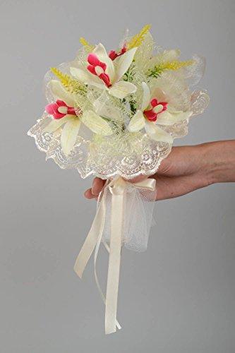 Fleurs artificielles d'orchidée bouquet pour mariée fait main accessoire mariage