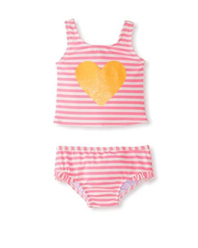 Carter's Baby 2-Piece Pink Stripe Swimsuit with Heart