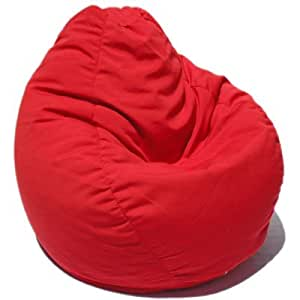 bean bag chair color china red home kitchen. Black Bedroom Furniture Sets. Home Design Ideas