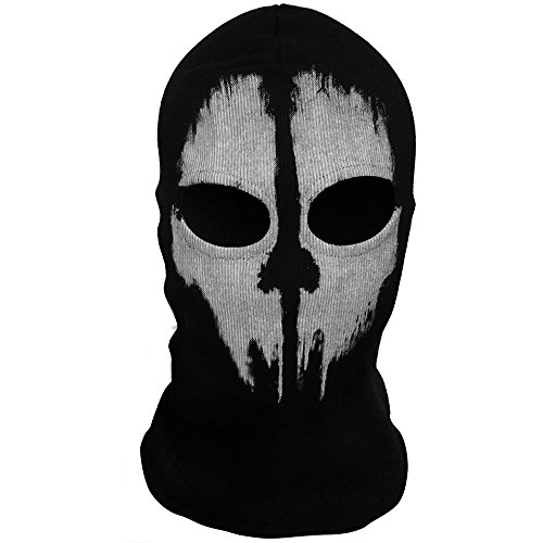 """OEO Cagoule Tête de Fantôme Call of Duty Tour de Cou Masque -""""Ghost Tete de Mort"""" Modern Warfare"""