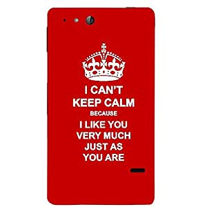 Skin4gadgets I CAN'T KEEP CALM BECAUSE I Like You Very Much Just As You Are - Colour - Red Phone Skin for SONY XPERIA GO (St27I)