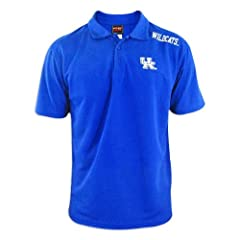 Kentucky Wildcats Mens Blue Fashion Solid Polo by Genuine Stuff