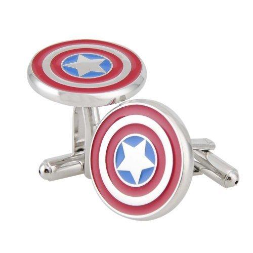 nexgencover-i-love-dad-cufflinks-hero-cuff-links-red-black-cufflinks-hero-captain-america-cufflinks-