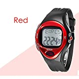 Amazon.co.jpShop-Riez hpule 腕時計 心拍計 消費カロリー計算 スポーツ ランニング デジタル 心拍 パルスウォッチ (レッド)