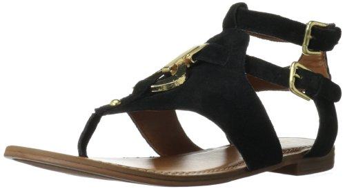 Nine West Women's Funsun Gladiator Sandal,Black Suede,7 M US