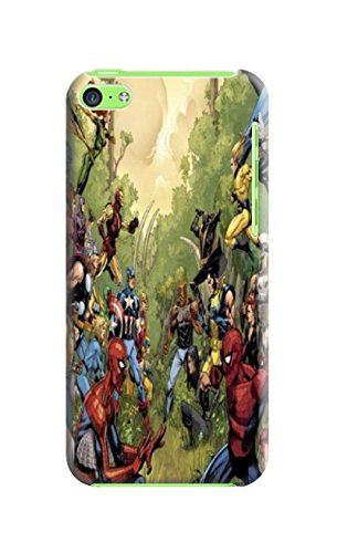 Fashion E-Mall Coolest TPU Logo case Top iphone 5C of Marvel Comics Avengers in Fashion E-Mall Designer Cover