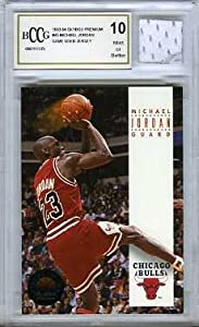1993-94 Skybox Premium #45 Michael Jordan with Piece of Authentic Michael Jordan... by Skybox