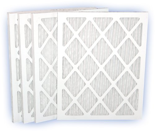 18x22x1 (17-3/8x21-1/2) DP Green 13 Pleated Panel Filter MERV 13 4-Pack