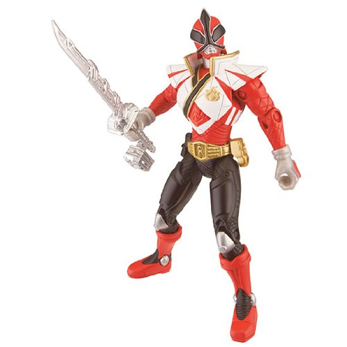 Power Rangers Samurai Super Mega Ranger  Fire   パワーレンジャー・サムライ スーパーメガレンジャー ファイアー (シンケンジャー シンケンレッド:海外新規デザイン版)4インチサイズ(約12cm)