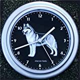 Quartz wall clock Siberian Husky dog