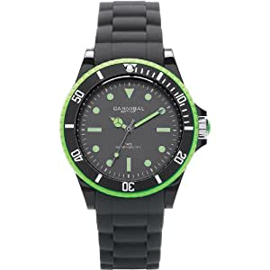 Cannibal Active Black & Lime Rubber Strap Childrens Boys Sports Watch CJ238-11