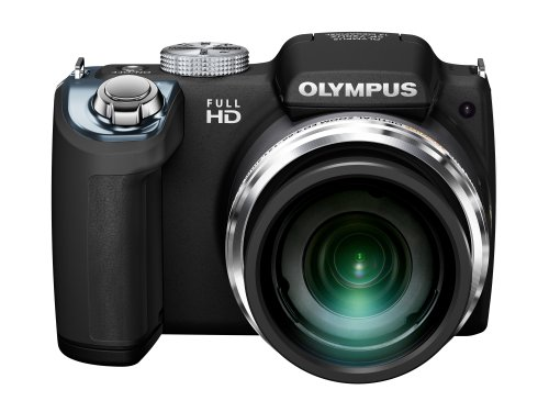 Olympus SP-720UZ iHS Digital Camera with 26x Optical Zoom and 3-Inch LCD (Black) (Old Model)
