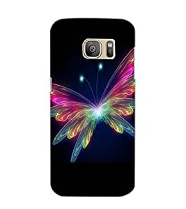 SAMSUNG GALAXY S7 EDGE BUTTERFLY Back Cover by PRINTSWAG