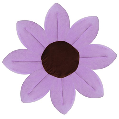 Lazybaby Baby Bath Mat Lotus Flower Play Mat Purple