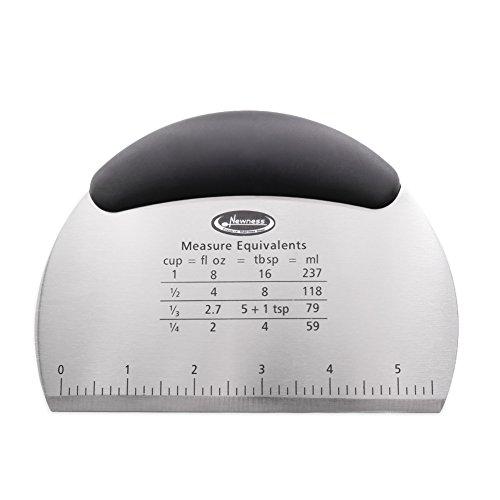 Dough Scraper & Chopper, Newness Stainless Steel Dough Scraper & Chopper for Kitchen - Cake, Pizza Cutter - Pastry Bread Separator Scale Knife (Cut Garlic Skin Machine compare prices)