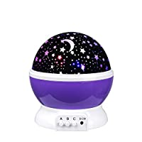 Senweit LED Mirror Ball Colour Changing Rotate Light Lightning Night Lamp Birthday Gift from Senweit