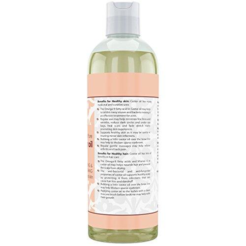 Beauty Aura 100 Percent Pure Castor Oil (16 Fl Oz)