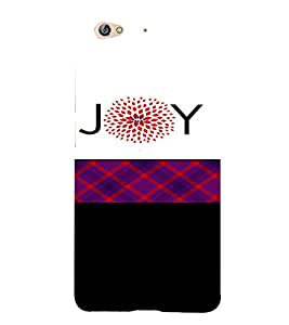 PrintVisa Joy Design 3D Hard Polycarbonate Designer Back Case Cover for Gionee S6
