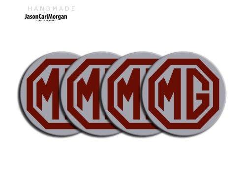MG ZT le500style noir et argent en alliage Roue de Centre PAC Badges (clr57mm)