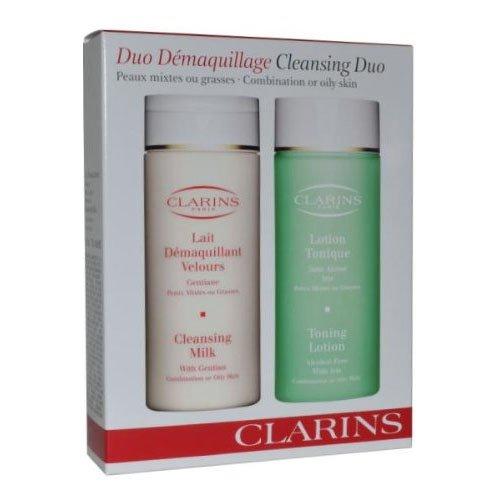 Clarins Detergente/ Tonificante Duo Confezione 2 x 200ml (Pettine/Grassa)