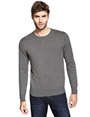 North Coast Pure Cotton Crew Neck Flecked Jumper
