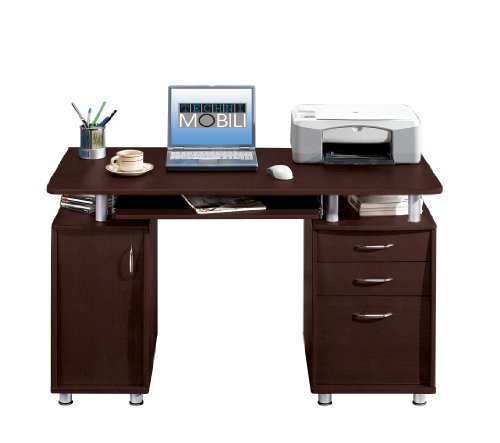Buy Low Price Comfortable Mad Tech 30x24x48 Chocolate 100% Mdf Construction Computer Office Desk Table (B004W0MGU6)