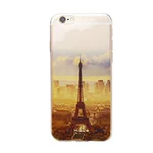 Imported Eiffel Tower Rubber Soft TPU Silicone Phone Case Cover for iPhone 6S Plus