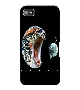 ColourCraft Funny Image Design Back Case Cover for BLACKBERRY Z10