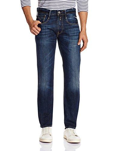 Replay Herren Slim Jeanshose ANBASS, Gr. W30/L30 (Herstellergröße: 30), Blau (Blue Denim 7) thumbnail